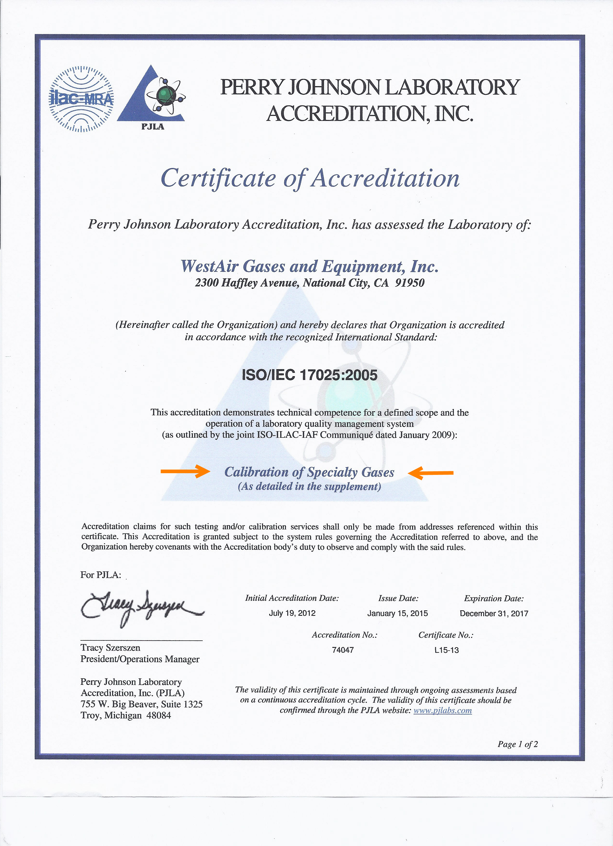 WestAir_ISO-17025_Certification_Calibration-3a